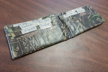 Sometimes I wish there was money inside this homemade wallet.