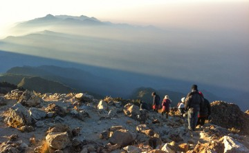 View from Tajumulco, the highest mountain in Central America at 4 220 metres above sea level.